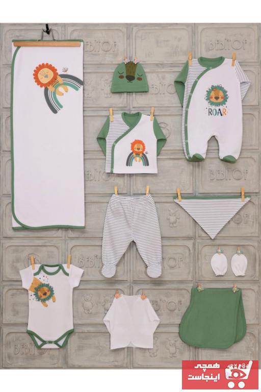 حرید اینترنتی ست لباس نوزاد ارزان برند Bebitof رنگ سبز کد ty90029420