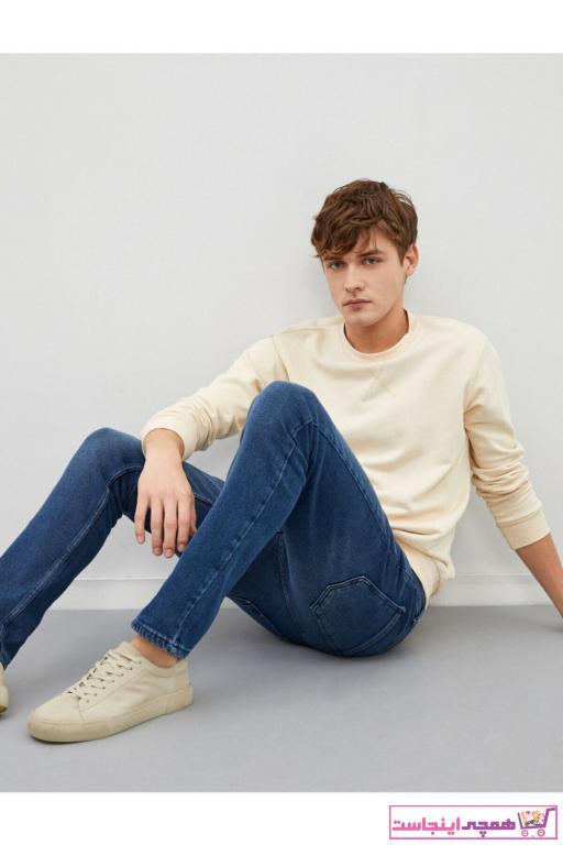 شلوار جین مردانه پارچه نخی برند کوتون رنگ آبی کد ty90105498