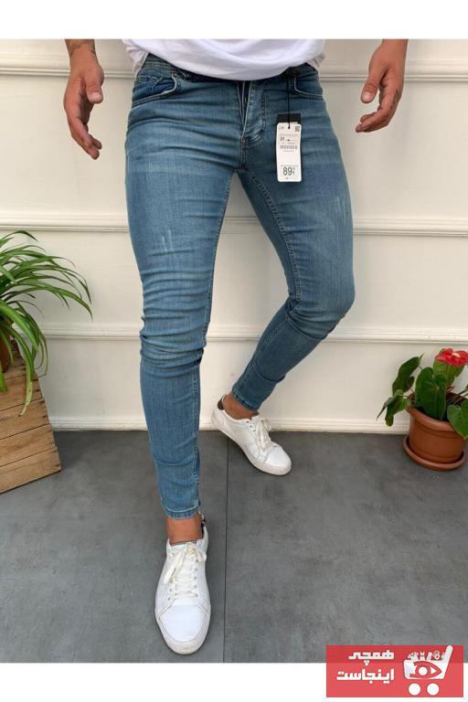 خرید مستقیم شلوار جدید برند westkombin رنگ آبی کد ty90345103