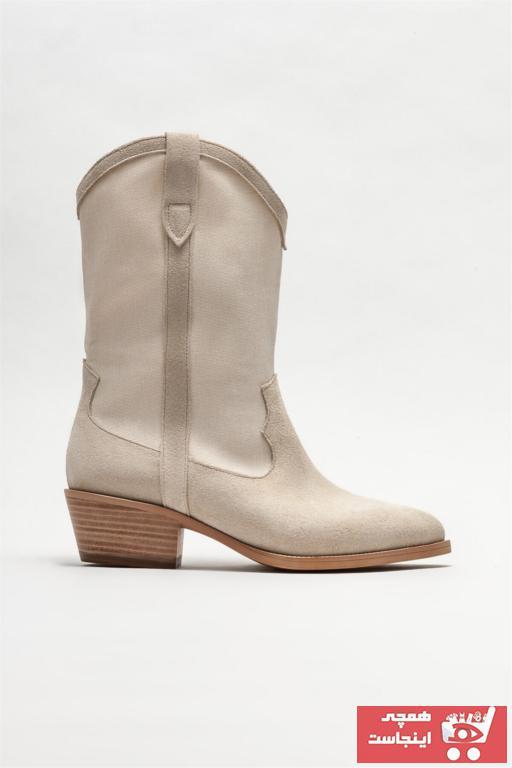 بوت جدید زنانه شیک برند Elle Shoes رنگ بژ کد ty90491126