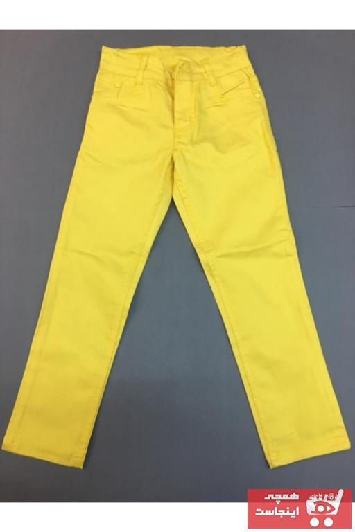 خرید پستی شلوار شیک دخترانه برند Gökkuşağı رنگ زرد ty90514802