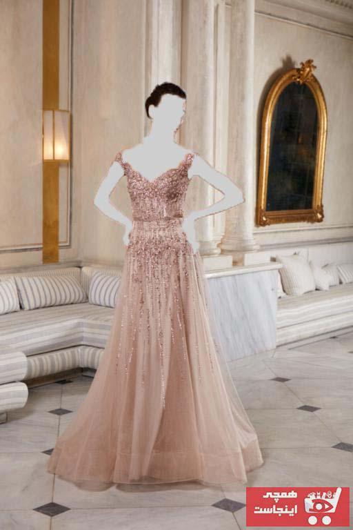 لباس مجلسی زنانه اینترنتی برند dreamon رنگ قهوه ای کد ty90617727