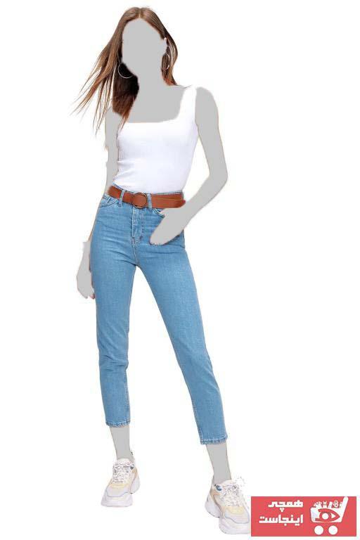 شلوار جین ساده برند butikburuç رنگ لاجوردی کد ty90630045