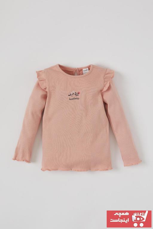تیشرت شیک نوزاد دخترانه برند دفاکتو ترکیه رنگ صورتی ty90667920