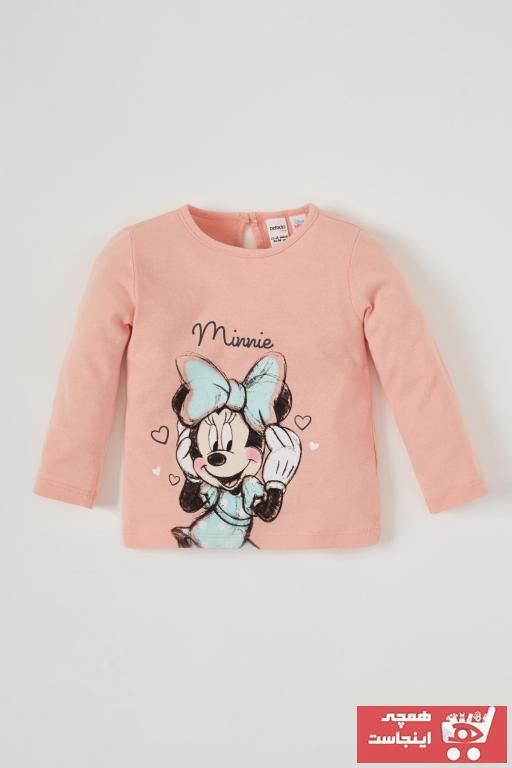 تیشرت نوزاد دخترانه مدل دار مارک دفاکتو رنگ صورتی ty90673595