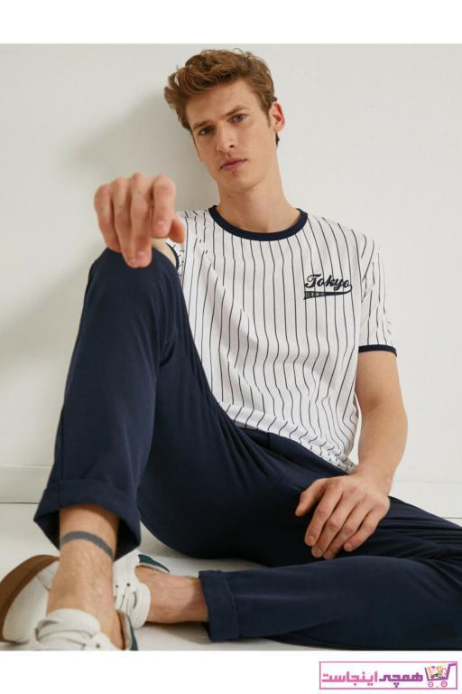 فروش تیشرت مردانه فانتزی برند کوتون رنگ لاجوردی کد ty90694085