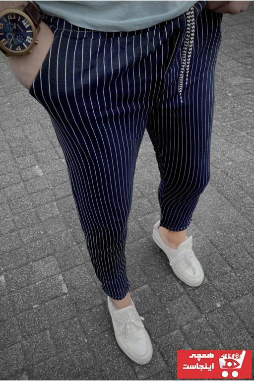 فروش شلوار مردانه نخی برند ukdwear رنگ لاجوردی کد ty90754961