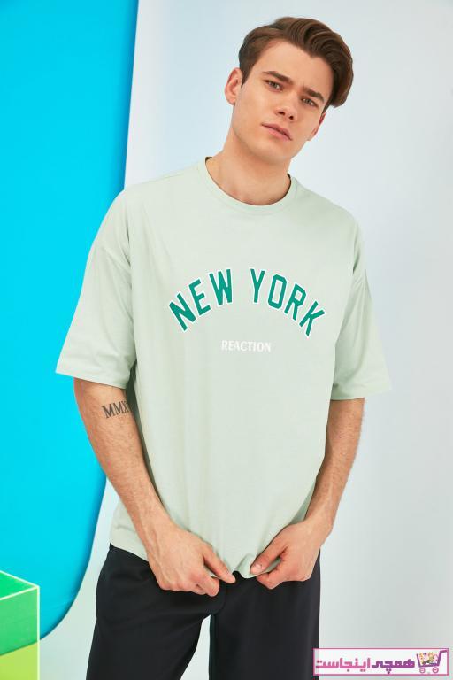 تی شرت مردانه نگیندار برند ترندیول مرد رنگ فیروزه ای ty90831440