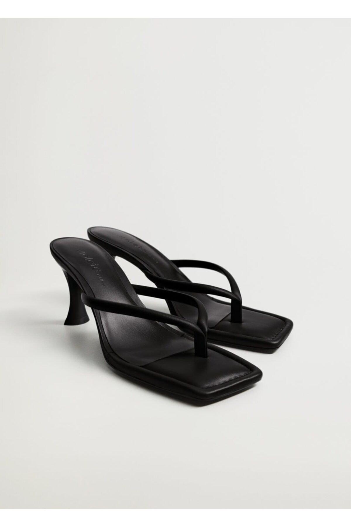 خرید اینترنتی صندل بلند برند Violeta by MANGO رنگ مشکی کد ty90861124