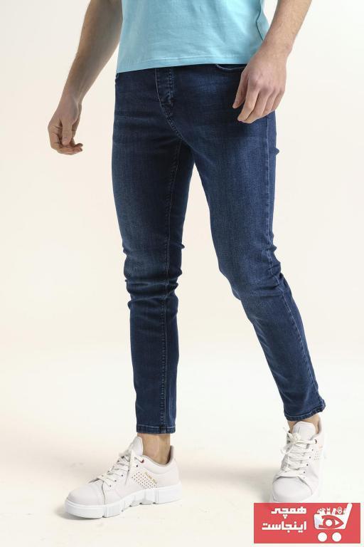 شلوار جین مردانه برند اکسید رنگ آبی کد ty91606420