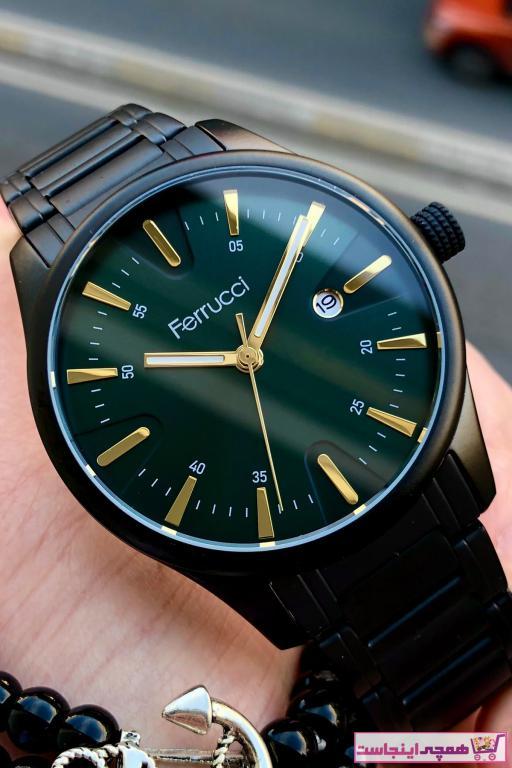 خرید پستی ساعت مچی مردانه 2021 برند Ferrucci رنگ مشکی کد ty91638873