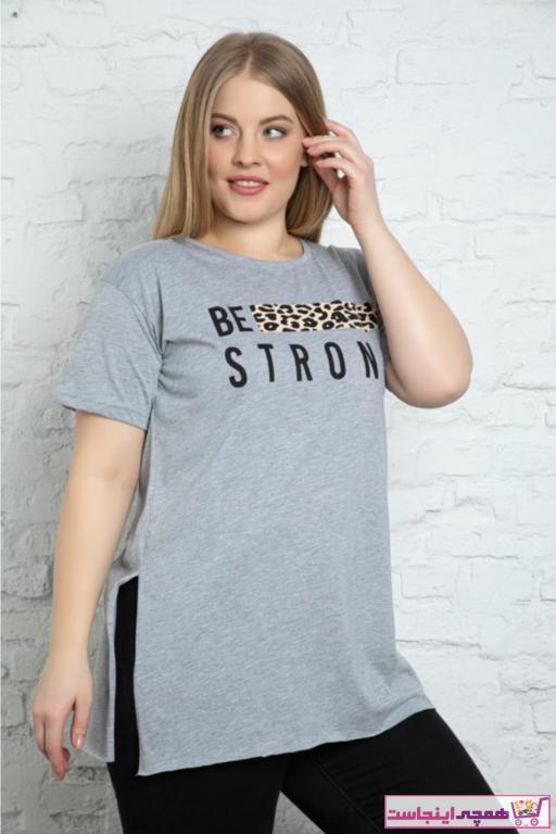 تیشرت شیک برند Trendbade Butik رنگ نقره ای کد ty91642250