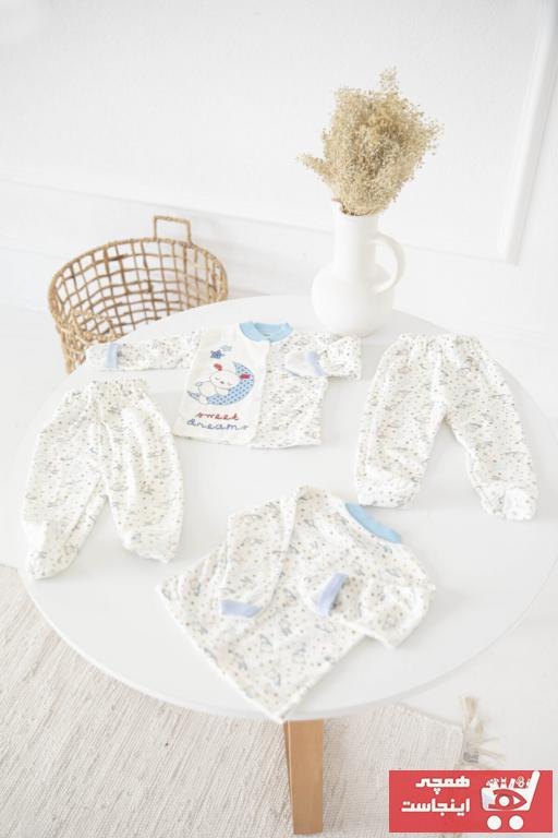 فروش اینترنتی ست لباس نوزاد با قیمت برند MEFEOR TEKSTİL رنگ آبی کد ty91805725