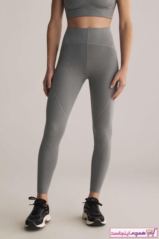 خرید نقدی لگ ورزشی زنانه ترک برند Oysho رنگ نقره ای کد ty91840549