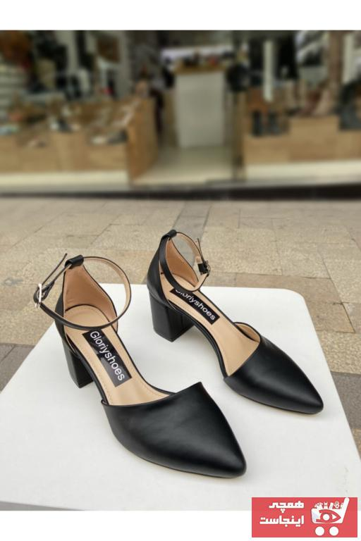 خرید پاشنه بلند زنانه ست برند gloriyshoes رنگ مشکی کد ty91890599