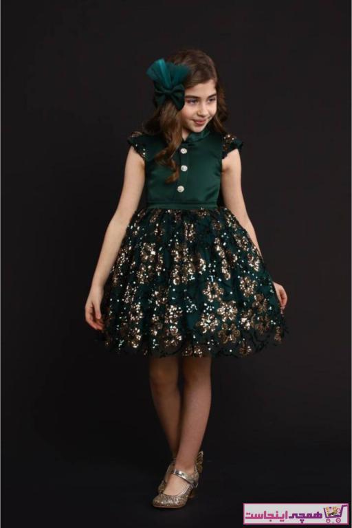 خرید لباس مجلسی دخترانه برند Riccotarz رنگ سبز کد ty92130924