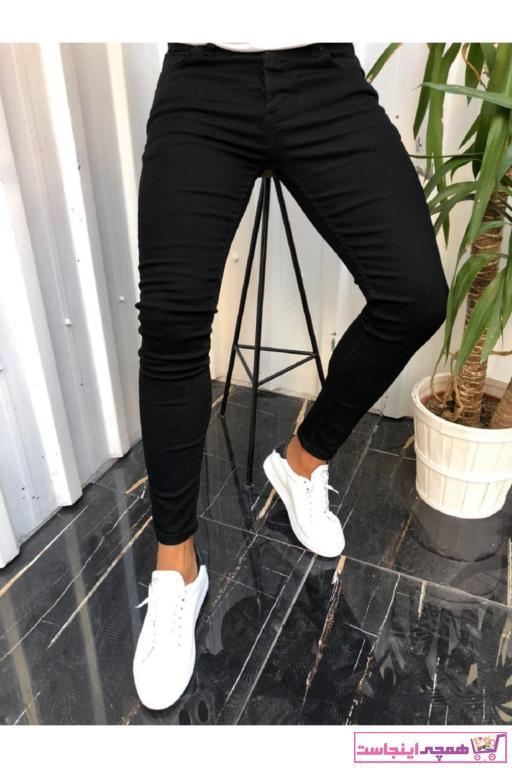 خرید انلاین شلوار جین طرح دار برند ALGİY MODA رنگ مشکی کد ty92540830