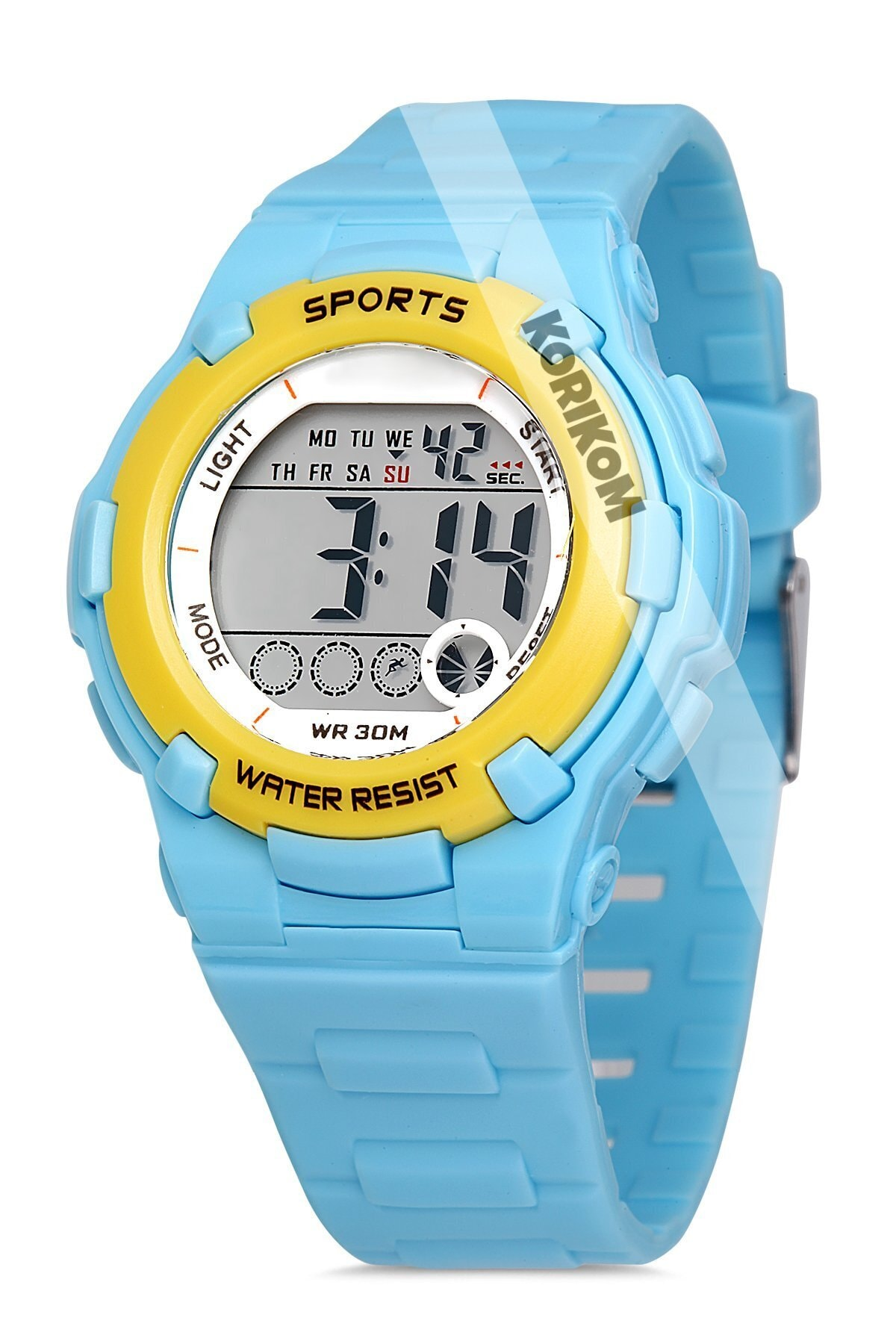 خرید اسان ساعت دخترانه اسپرت جدید برند Korikom رنگ آبی کد ty92653628
