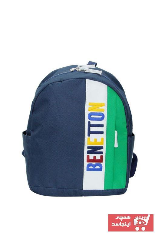 کوله پشتی بچه گانه دخترانه ترک جدید برند Benetton رنگ لاجوردی کد ty92661368
