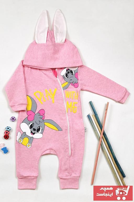 سفارش پستی سرهمی نوزاد دخترانه برند VERONA TARZ رنگ صورتی ty92767422