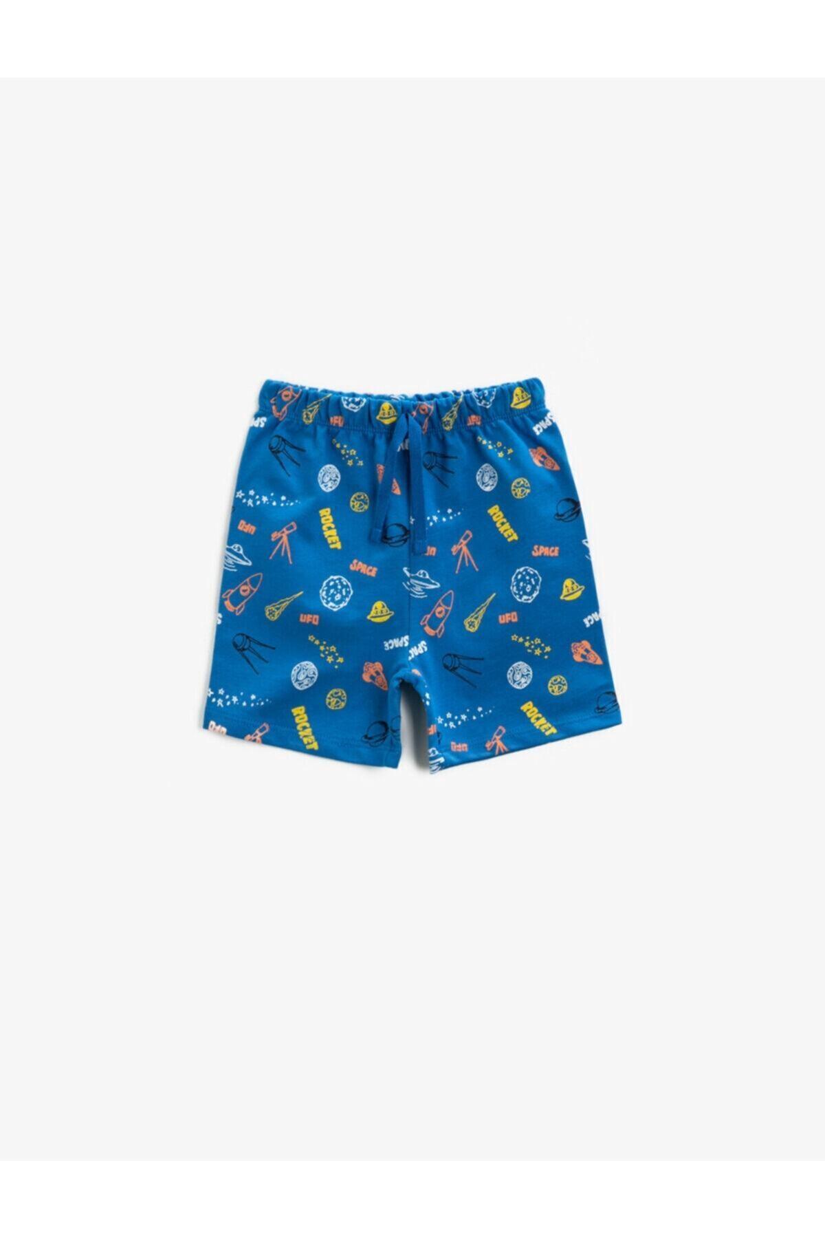 شلوارک نوزاد پسر حراجی برند کوتون رنگ آبی کد ty92780729