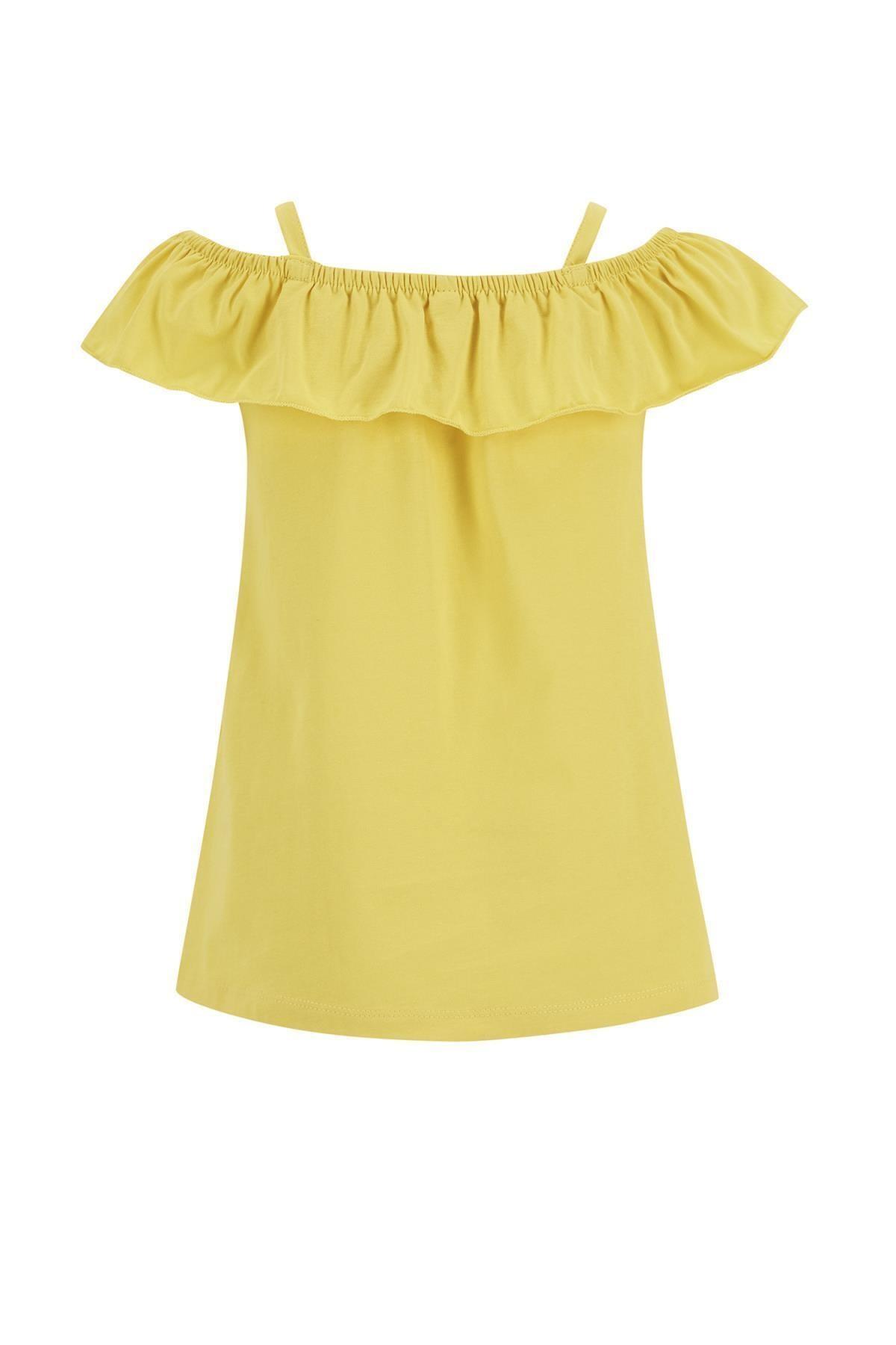 خرید بلوز دخترانه ترک جدید برند دفاکتو رنگ زرد ty92804250