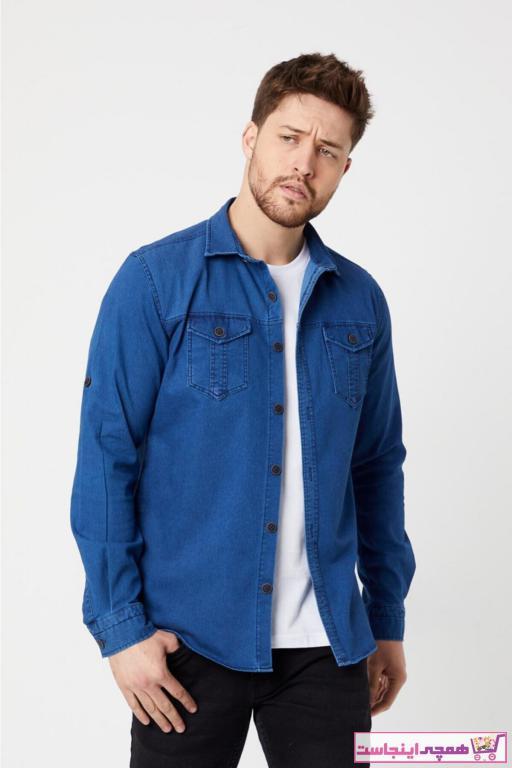 خرید اسان پیراهن اسپرت مردانه اسپرت جدید برند Moda Karel رنگ آبی کد ty92864282