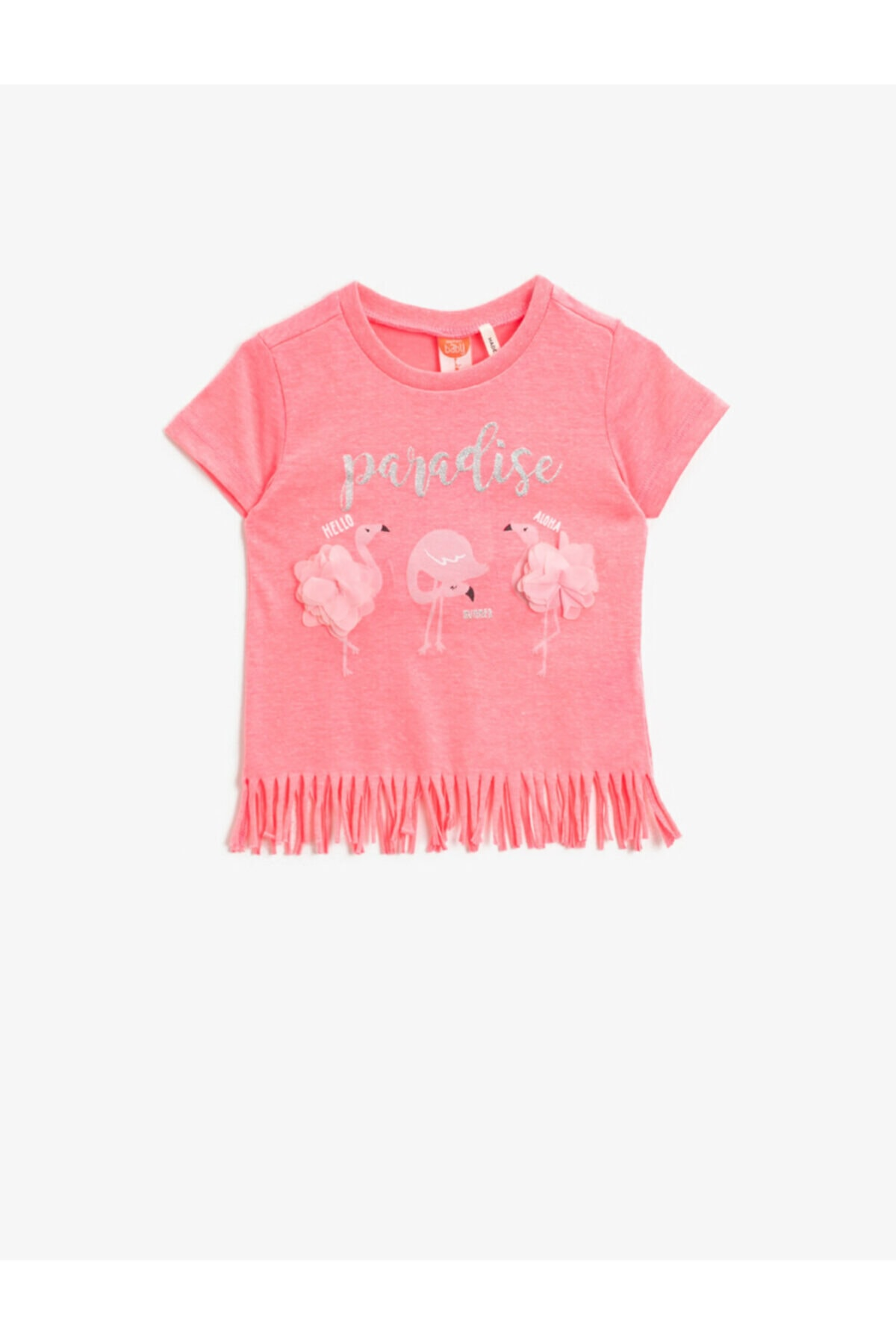 تیشرت نوزاد دخترانه خفن برند کوتون رنگ صورتی ty93139027