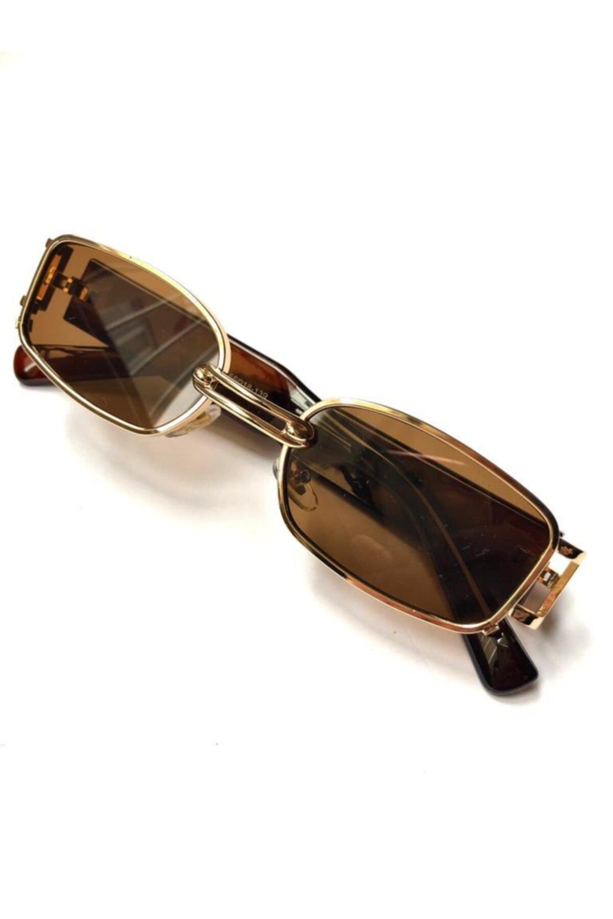 عینک آفتابی زنانه مارک دار برند HSKALIP رنگ قهوه ای کد ty93293900