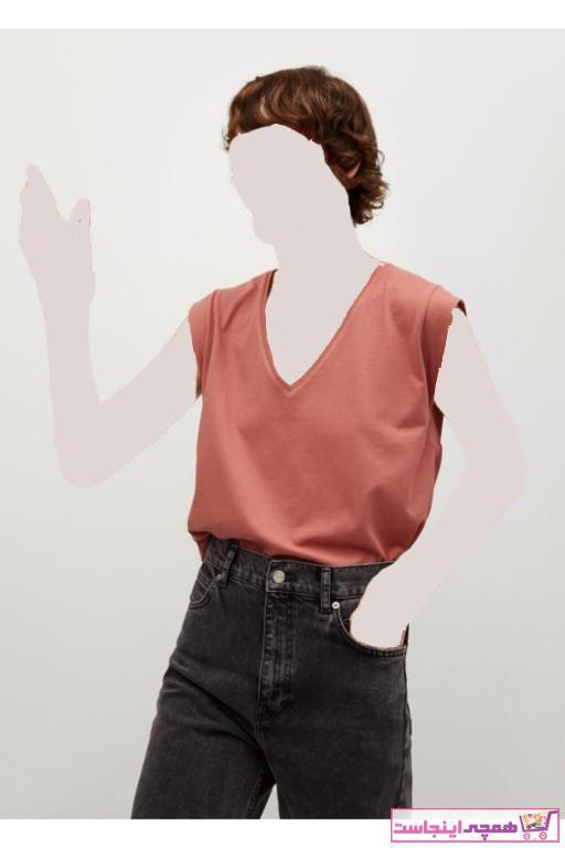 فروشگاه پولوشرت زنانه برند MANGO Woman منگو رنگ نارنجی کد ty93314458