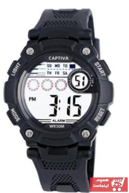 خرید انلاین ساعت بچه گانه فانتزی برند captiva رنگ مشکی کد ty93359547