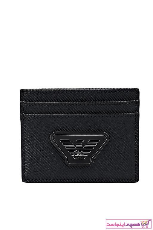 فروش نقدی کیف کارت بانکی مردانه خاص برند امپریو آرمانی رنگ مشکی کد ty93456530