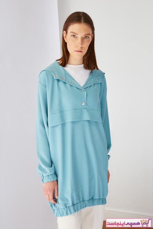 خرید تونیک نخی برند Trendyol Modest رنگ آبی کد ty93604634