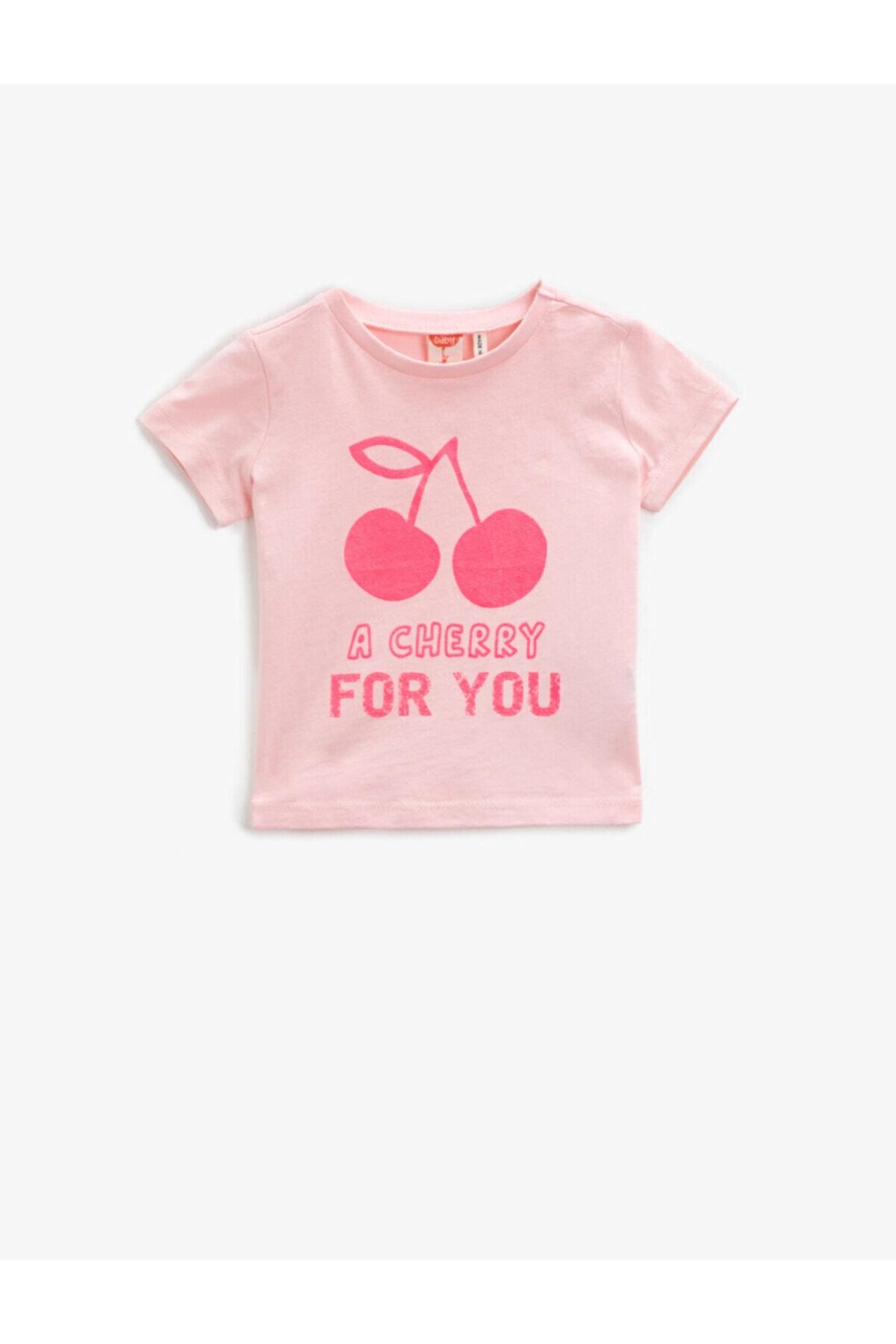 خرید نقدی تیشرت نوزاد دخترانه فروشگاه اینترنتی برند کوتون رنگ صورتی ty93609919