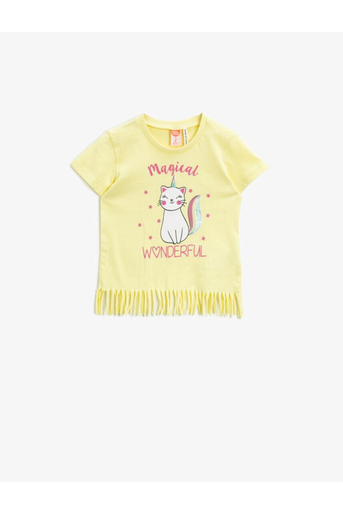 تیشرت خاص نوزاد دخترانه برند کوتون رنگ زرد ty93663407