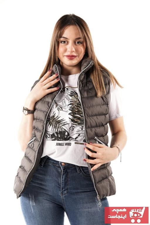 فروشگاه جلیقه زنانه اینترنتی برند PIQUE رنگ نقره ای کد ty93857294