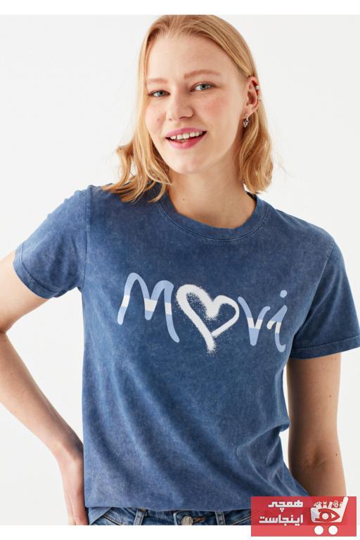 فروشگاه تیشرت زنانه سال ۹۹ برند ماوی رنگ آبی کد ty93927504