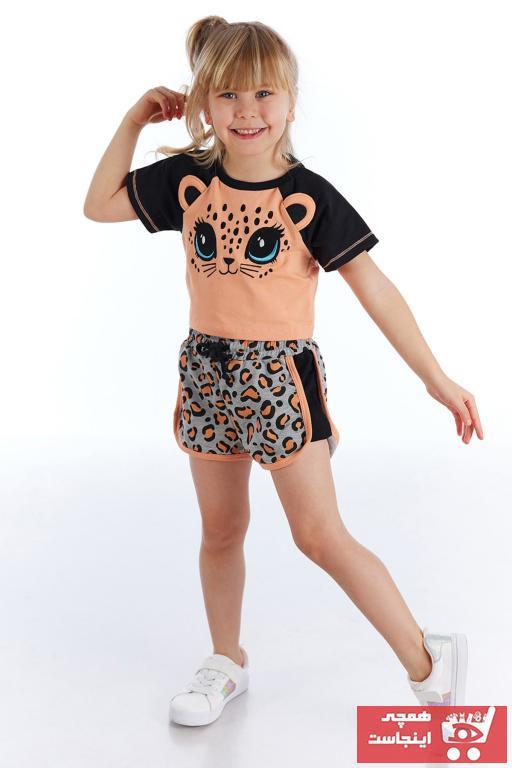 فروش شلوارک دخترانه شیک و جدید برند Denokids رنگ نارنجی کد ty93974826