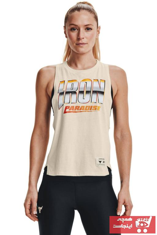 فروش رکابی ورزشی مردانه حراجی برند Under Armour رنگ بژ کد ty93999035