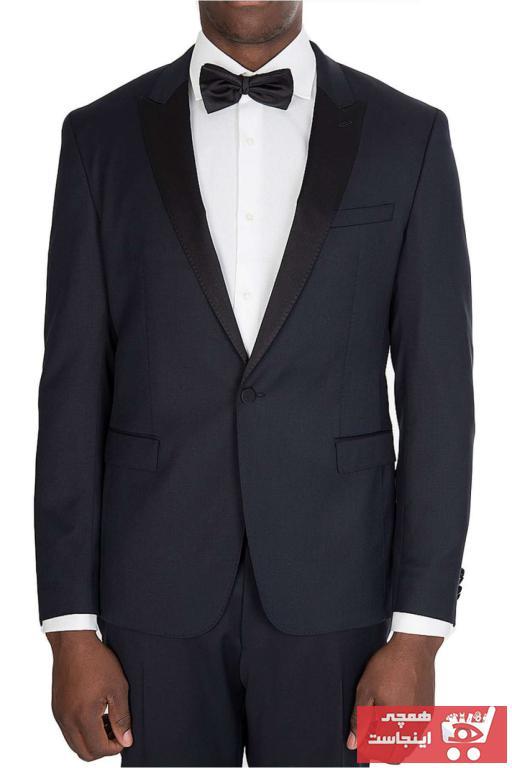 کت تک اصل مردانه برند Boss رنگ لاجوردی کد ty94116053