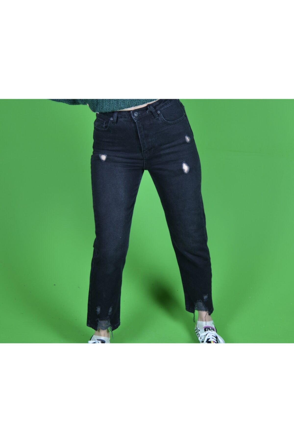 خرید اینترنتی شلوار جین خاص زنانه SWEG رنگ مشکی کد ty94119552