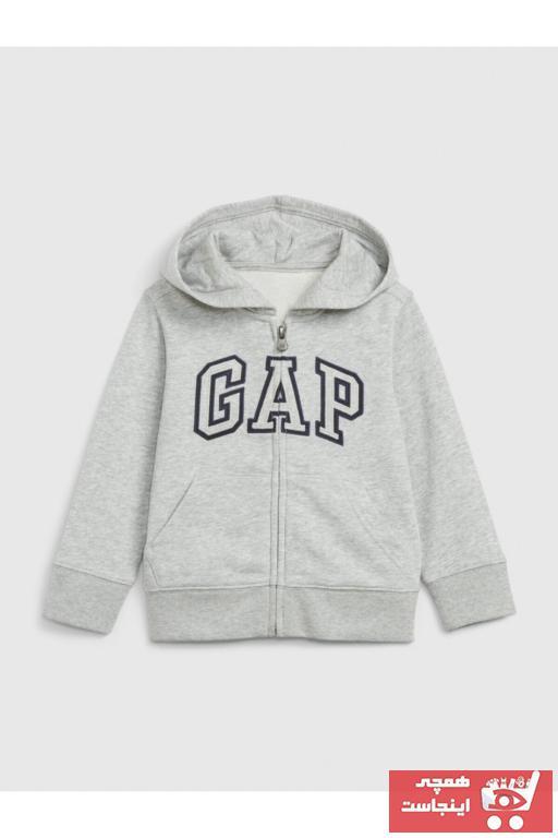 خرید سویشرت 2021 نوزاد پسر برند GAP رنگ نقره ای کد ty94130029