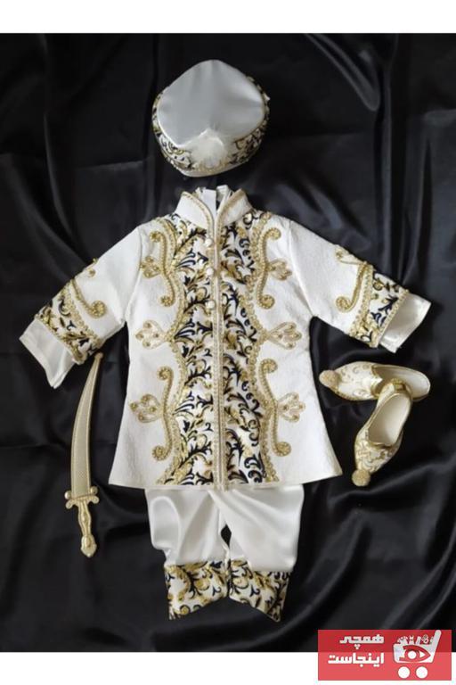 لباس خاص 2021 مدل جدید برند yuşa sünnet sarayı رنگ بژ کد ty94140897