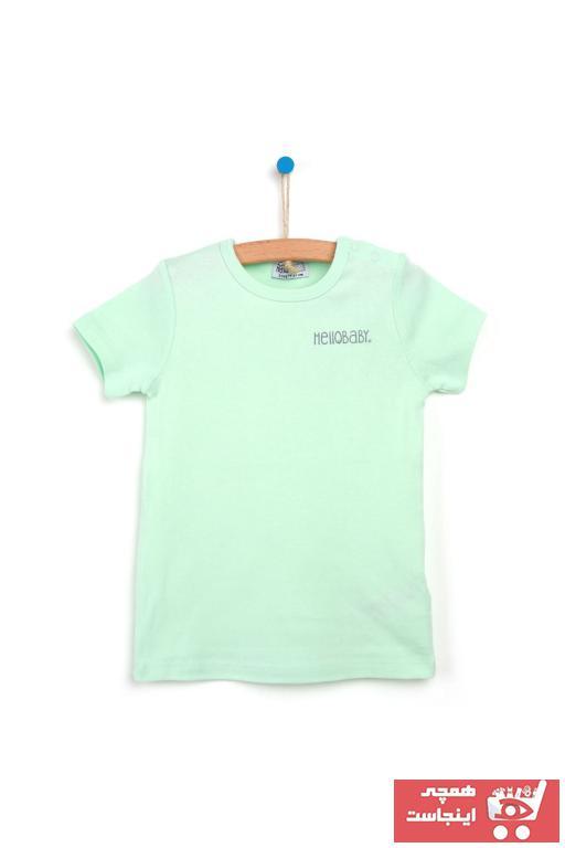 فروشگاه تیشرت نوزاد دخترانه اینترنتی برند HelloBaby رنگ فیروزه ای ty94181306