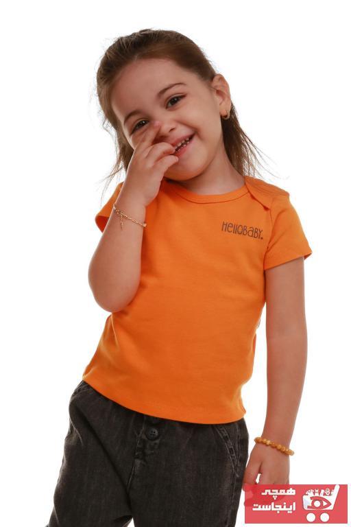 فروش تیشرت جدید برند HelloBaby رنگ نارنجی کد ty94181758