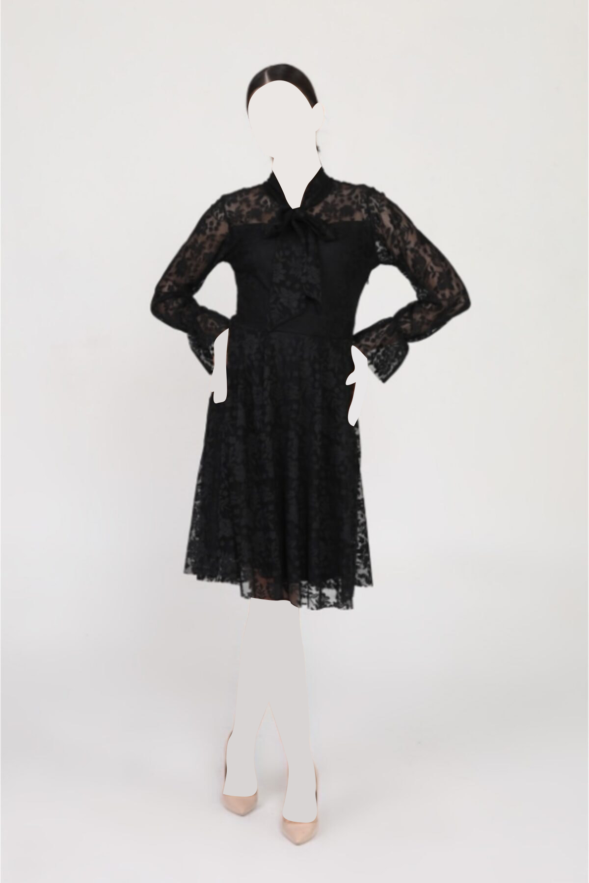 لباس مجلسی زنانه پارچه نخی برند Zenlife رنگ مشکی کد ty94185040