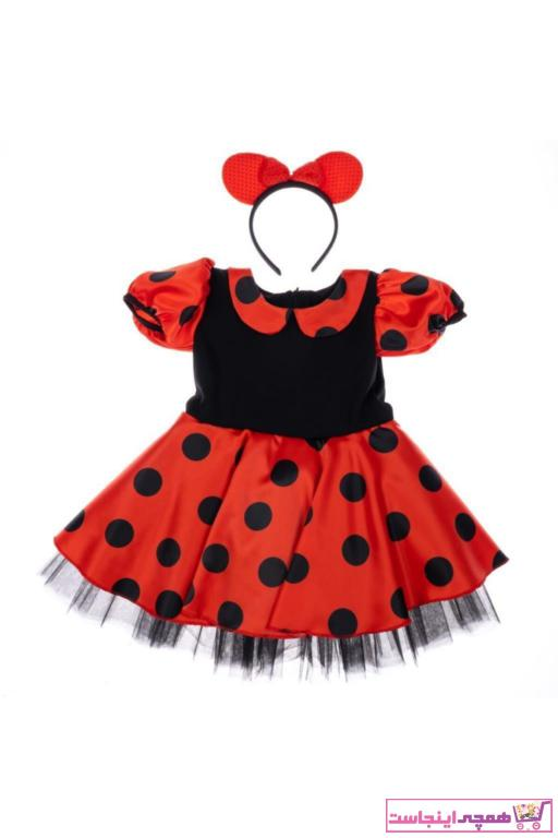 خرید انلاین لباس مجلسی طرح دار برند BEBEBEBEK رنگ قرمز ty94329126