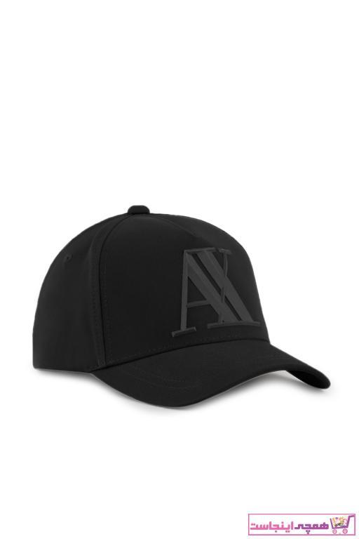 خرید انلاین کلاه طرح دار برند Armani Exchange رنگ مشکی کد ty94330559