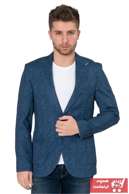 کت تک مردانه مارک برند White Stone رنگ لاجوردی کد ty94340839