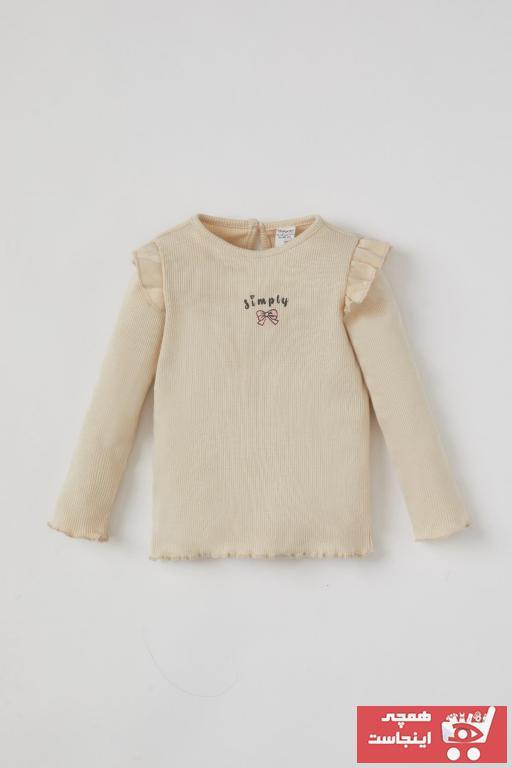 سفارش تیشرت نوزاد دخترانه ارزان برند دفاکتو رنگ بژ کد ty94353540